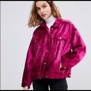 NWT Free people pink jacket